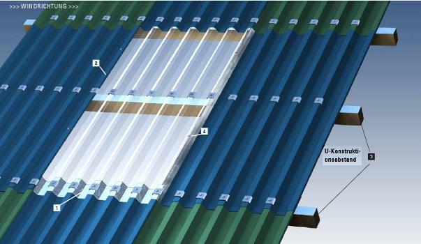 zubeh r f r einschalige lichtplatten der dachplattenprofi. Black Bedroom Furniture Sets. Home Design Ideas