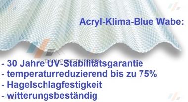 Lichtplatte Acryl 3 mm Klima-Blue