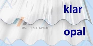 Lichtplatten PC Wellenprofil opal-Sonnenschutz