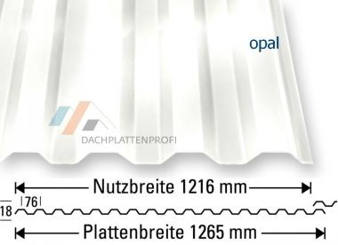 Lichtplatten PC opal - Sonnenschutz mit viel Helligkeit