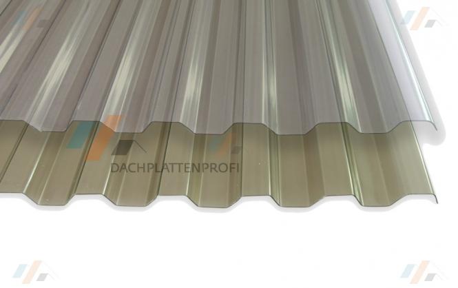 PVC 1.4 mm Trapez-/Spundwandprofil klar oder bronziert