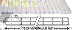 SONDERAKTION SUPERPREIS f. Stegdreifachplatte PC Novalux