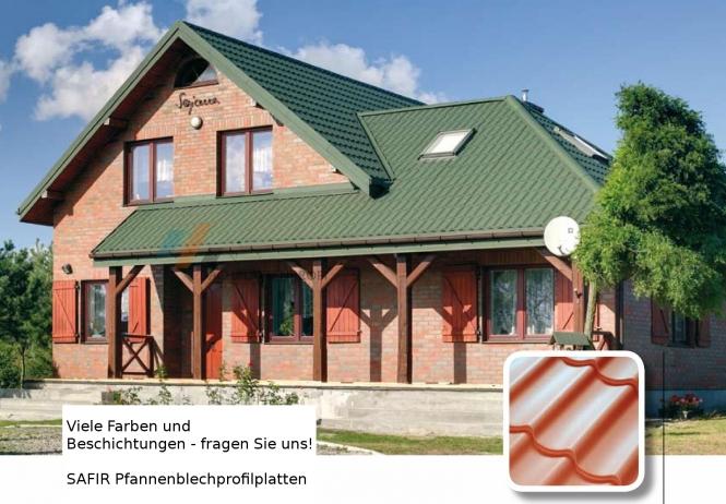 Sonderpreis 1. Wahl Dachpfannenblech cm-exakte Längen viele versch. Poly'beschichtung