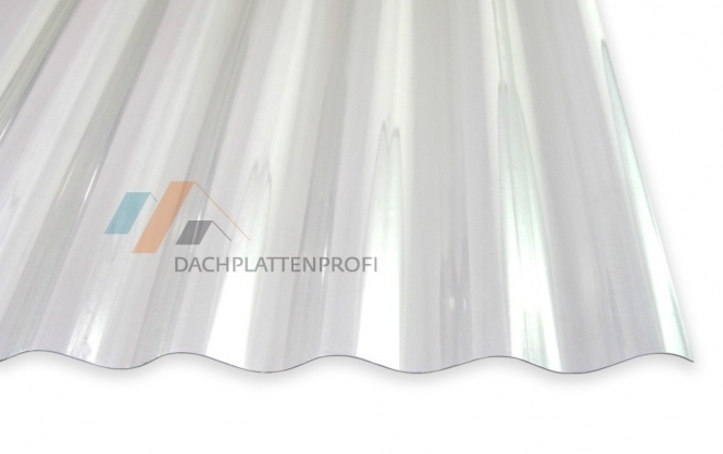 Lichtplatte PVC 1.4 mm Sinusprofil Welle glasklar