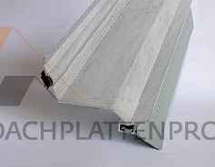 Wandanschlußprofil Aluminium mit integrierter Dichtlippe