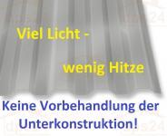 Lichtplatten PC mit Hitzeschutz Trapezprofil