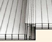 """Stegvierfachplatte PC """"CLICK"""" 16 mm OHNE VERLEGEPROFILE verlegbar"""