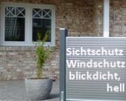 Sicht- u. Windschutzelement komplett