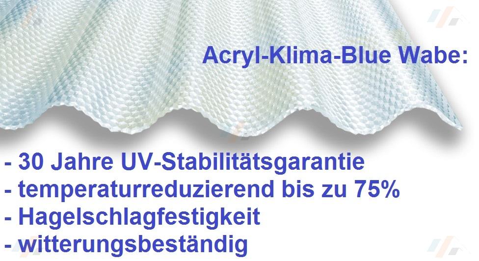 Lichtplatte Acryl 3 Mm Klima Blue In Lichtplatten Der