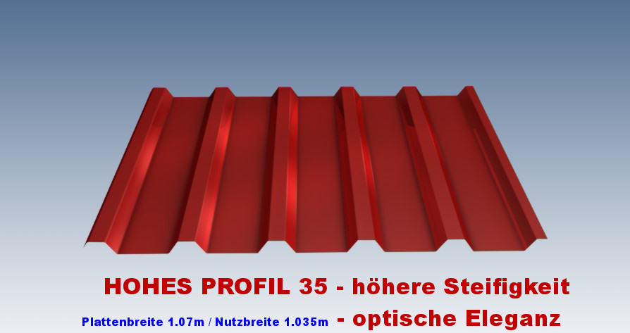 trapezblech vlies hohes profil 35 207 so posten z so 39 preis in der dachplattenprofi. Black Bedroom Furniture Sets. Home Design Ideas