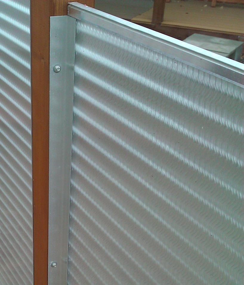 Wellblech Garage: Sicht- U. Windschutzelement Komplett In Sicht- Und